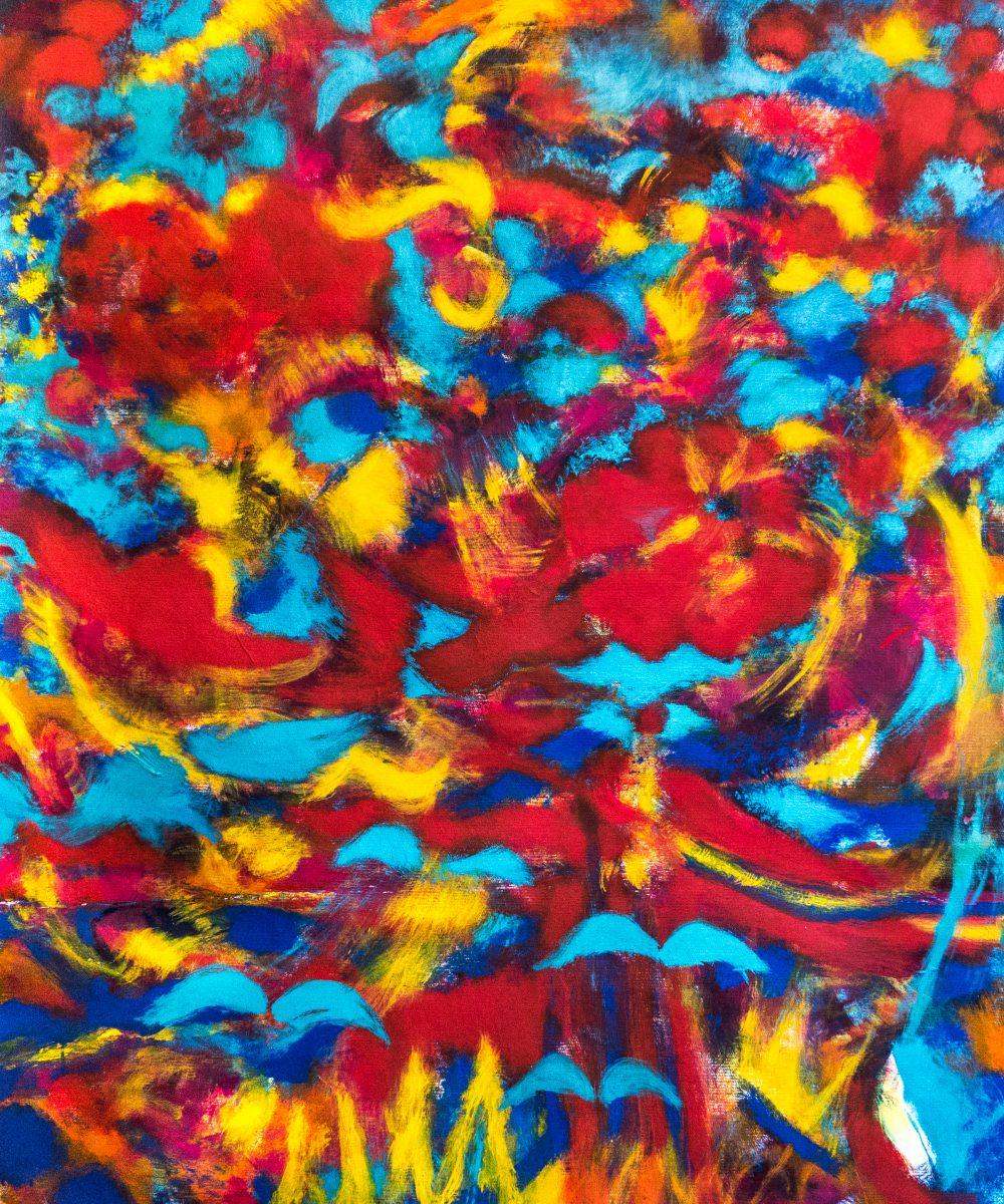 023_Fliegender Teppich, Acryl auf Zellstoff, 143cmx120cm,2016 (2)