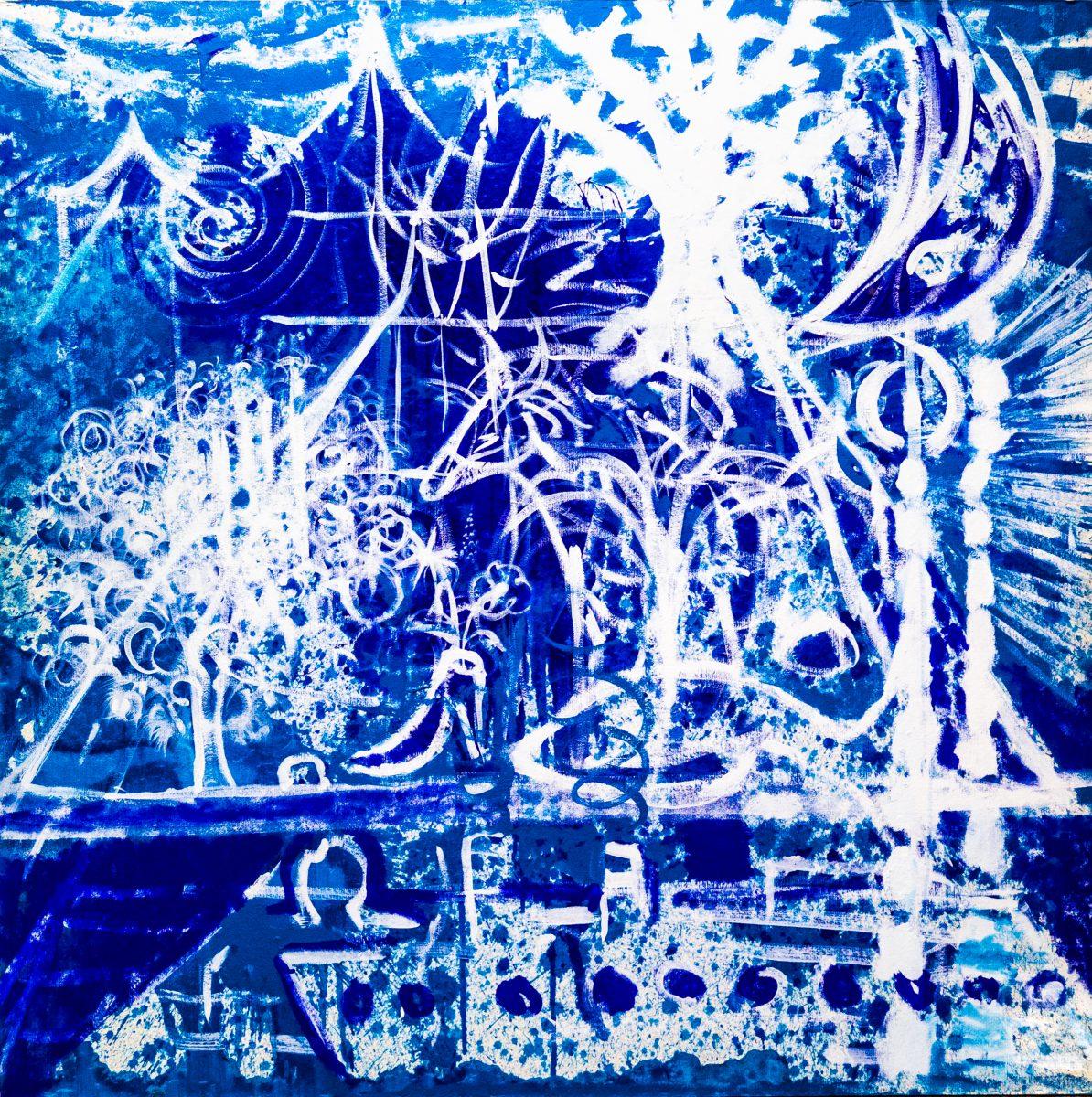028_Slumberland, Acryl auf Zellstoff, 182 x 182 cm, 2010