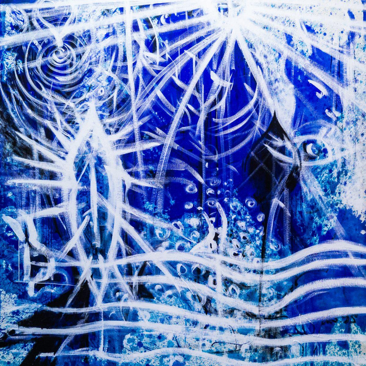 030_Stargate, Acryl auf Zellstoff, 182 x 182 cm, 2010