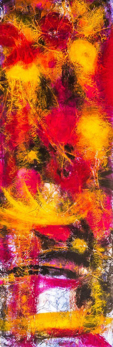 050_2_Flowers_2, Acryl auf Aluminum, 40x120cm, 2017