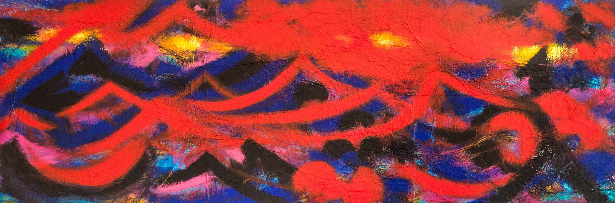 053_Nachtlichter, Acryl auf Alu, 50x150cm, 2017