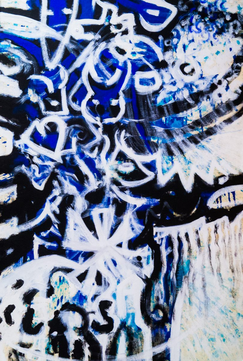 057_Stammbaum, Acryl auf Zellstoff, 150 x 108 cm, 2014