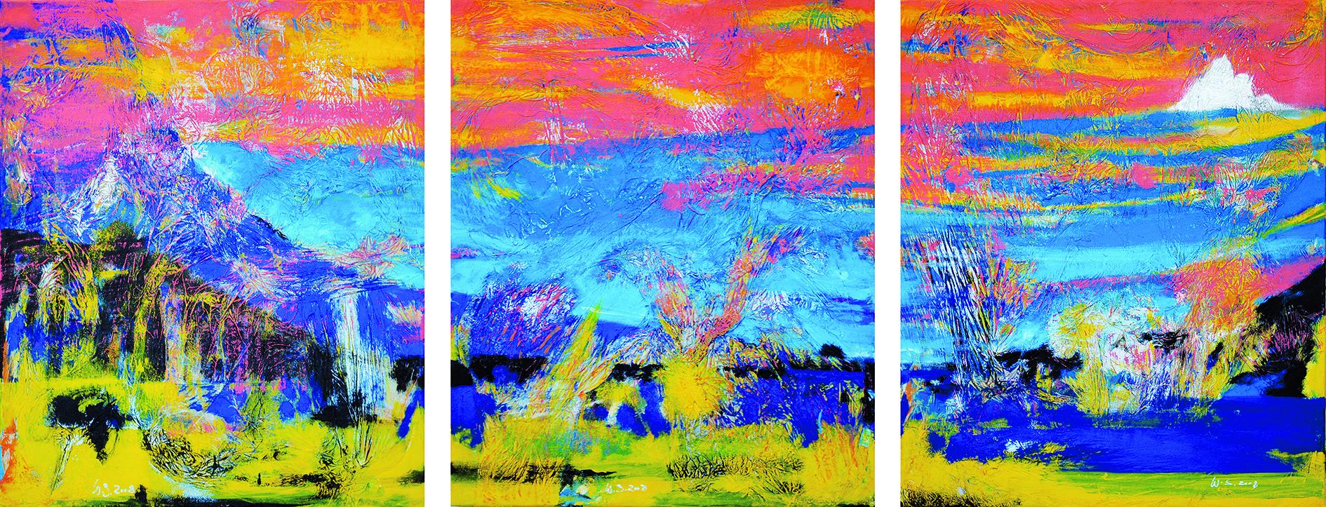 148_2010_Homeland_Acryl auf Zellstoff auf Seidenpapier_74x174