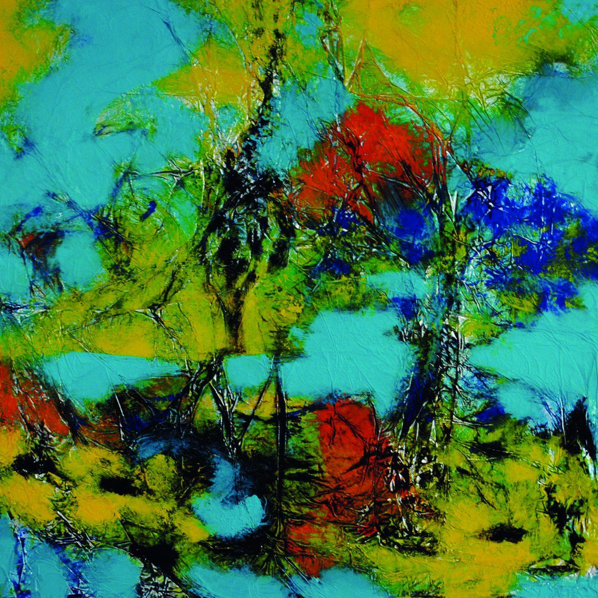 186_2013_Schoene Landschaft_Acryl auf Alufolie_40x40