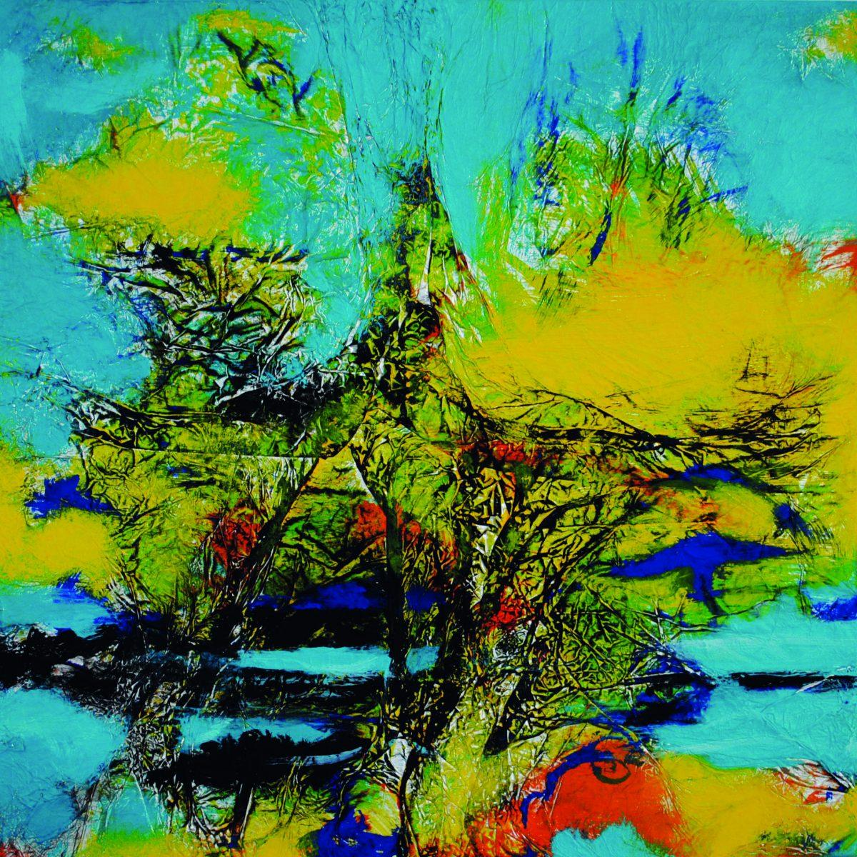 188_2013_Power Land_Acryl auf Alufolie_40x40