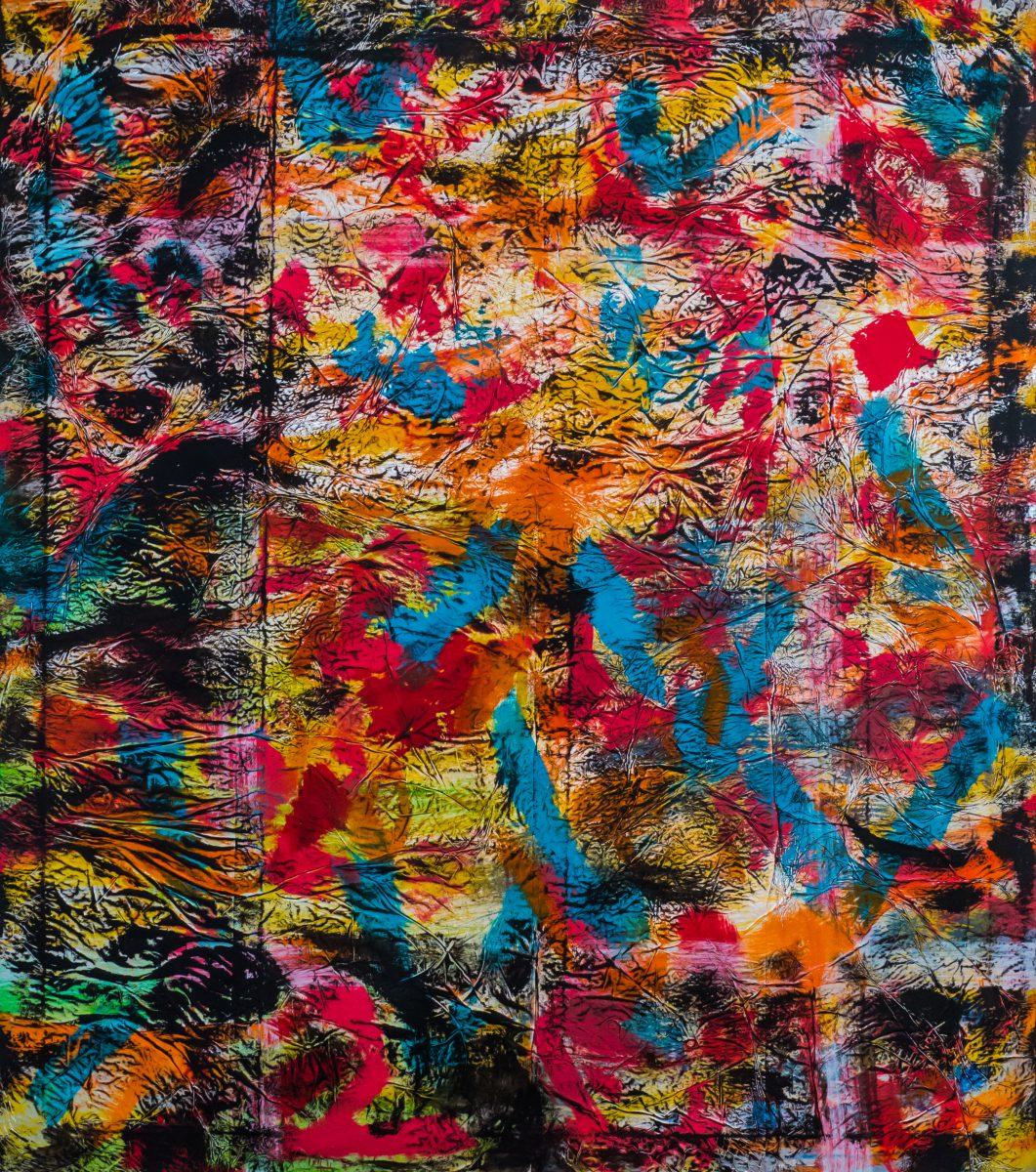 Brief an dich, Acryl auf Aluminium, 160 x 140 cm, 2018
