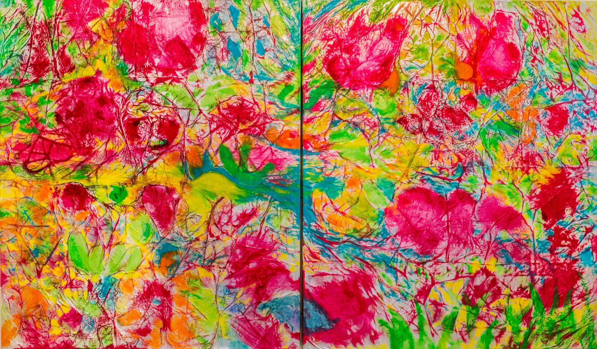 Flowerpower, Acryl auf Aluminium, 140 x 120 cm, 2019