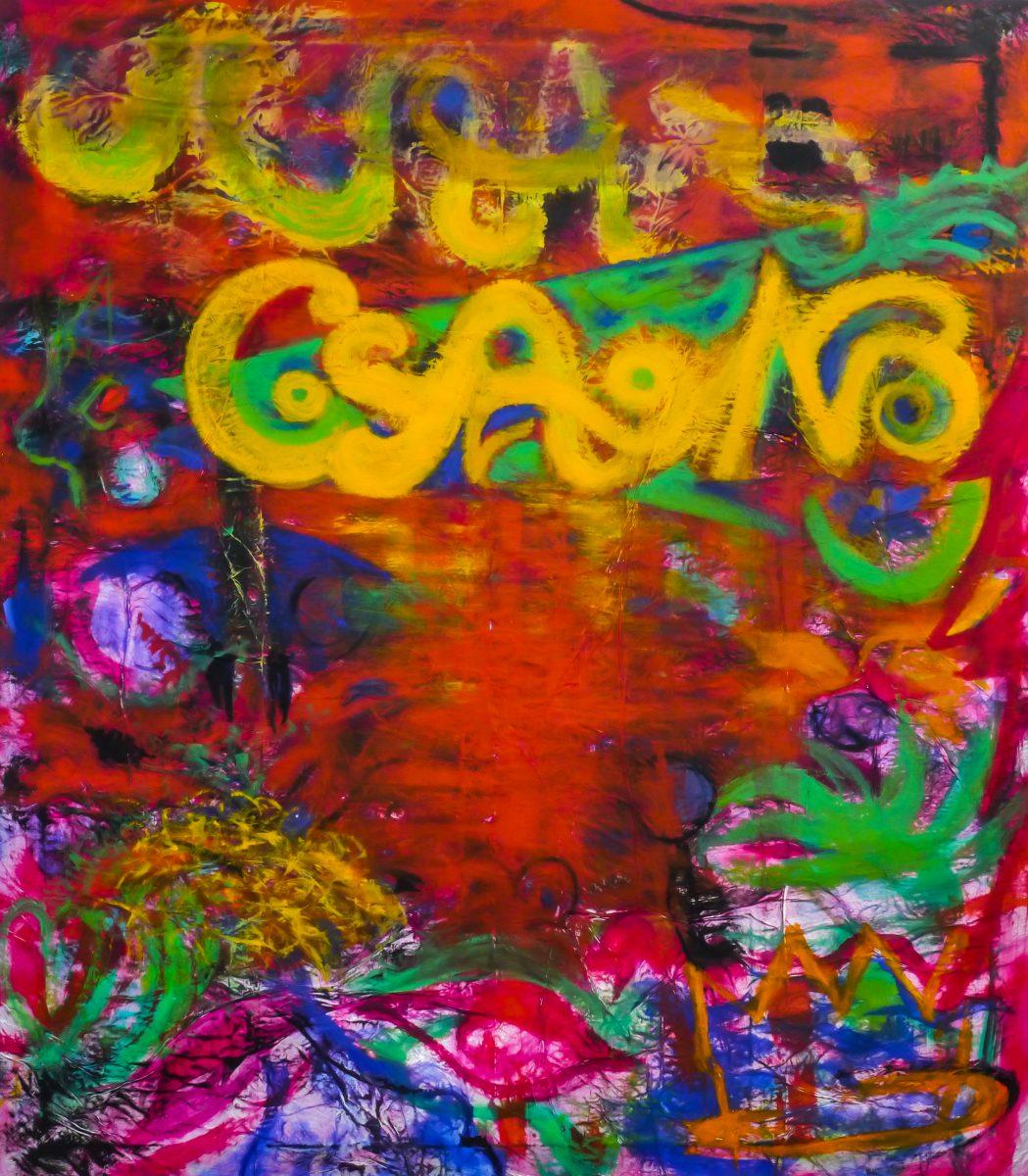GSANG, Acryl auf Aluminium, 160 x 140 cm, 2018