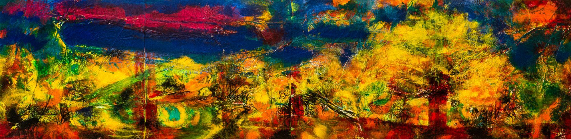 Landschaft mit Hirn, Acryl auf Aluminium, 2019