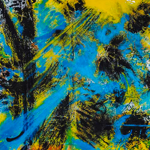 2013_Blauer-Flug_Acryl-auf-Alufolie_80x80